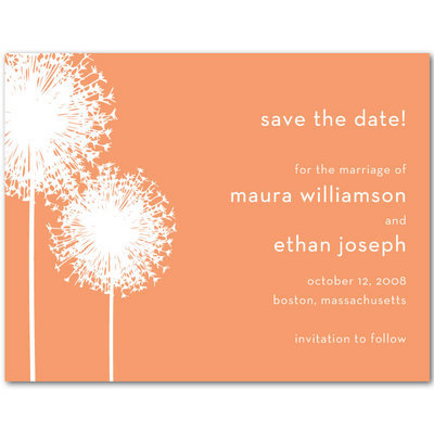 Stationery, orange, Invitations, Save-the-Dates, Save the date