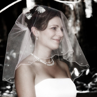 Veils, Fashion, Bride, Veil, Cermony, Smile, Kevin lozaw photography