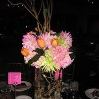Flowers & Decor, orange, pink, Centerpieces, Modern, Flowers, Modern Wedding Flowers & Decor, Centerpiece