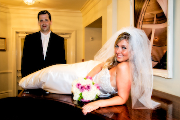 Bride, Portraits, Groom, Fun, Piano, Kevin lozaw photography