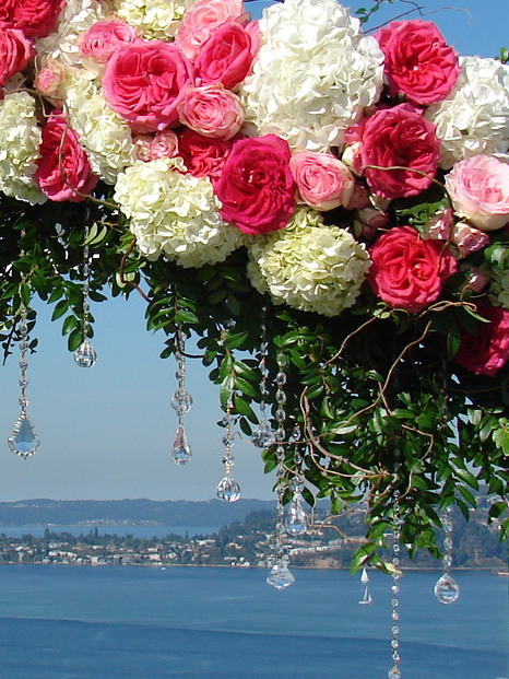 Ceremony, Flowers & Decor, Ceremony Flowers, Flowers, Romantic, Arch, Crystals, Arches, Altar, Gardenpartytogocom