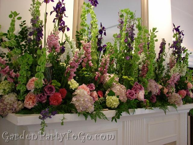 Flowers & Decor, Flowers, Mansion, Fireplace, Clise, Gardenpartytogocom