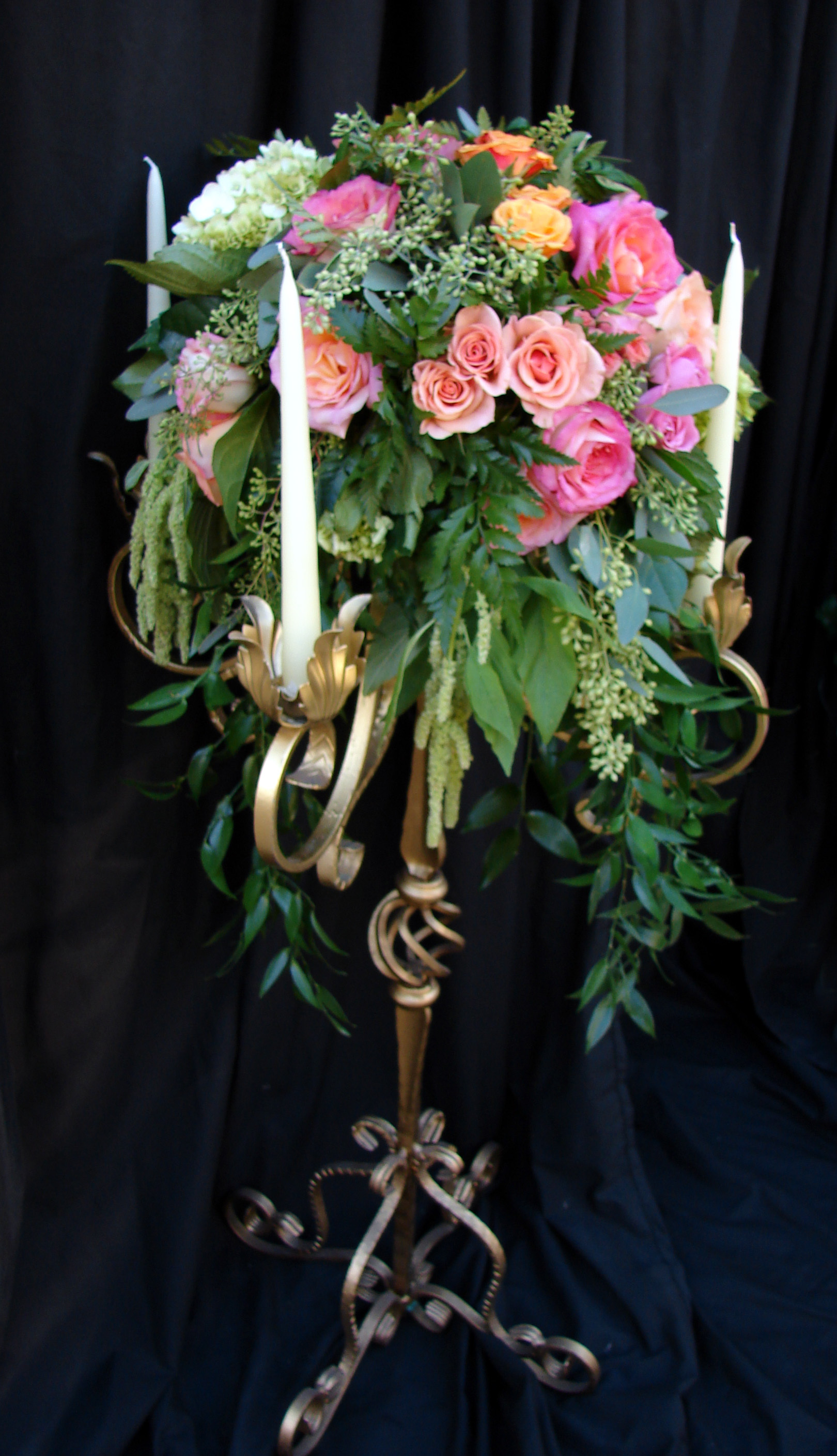 Flowers & Decor, Centerpieces, Flowers, Centerpiece, Tall, Candelabra, Crystals, Gardenpartytogocom