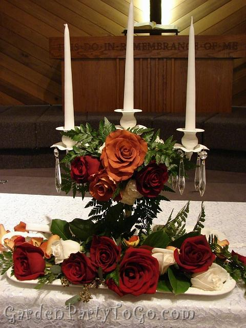 Flowers & Decor, orange, Flowers, Candle, Victorian, Unity, Burnt, Crystals, Gardenpartytogocom