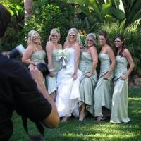 Bridesmaids, Bridesmaids Dresses, Fashion, orange, green