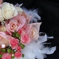 Beauty, Flowers & Decor, pink, Feathers, Flowers, Swarovski, Bling, Crystals, Gardenpartytogocom