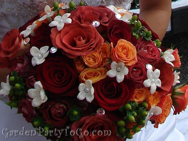 Flowers & Decor, orange, burgundy, green, Bride Bouquets, Flowers, Roses, Bouquet, Lace, Swarovski, Crystals, Gardenpartytogocom