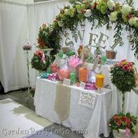 Ceremony, Flowers & Decor, orange, pink, green, Ceremony Flowers, Flowers, Romantic, Arch, Crystals, Arches, Altar, Gardenpartytogocom