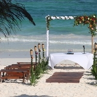 Flowers & Decor, Beach, Flower, Site, Bamboo, Sea, Settings, Canopy, Weddings riviera maya