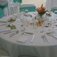 Reception, Flowers & Decor, Tropical, Table, Up, Style, Set, Weddings riviera maya