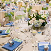 Flowers & Decor, blue, green, Centerpieces, Flowers, Centerpiece