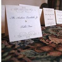 Stationery, Place Cards, Placecards, Platinum events and design