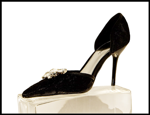 black, Lace, Shoe, Crystal, On, The shoe store