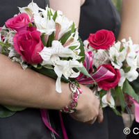 Jewelry, Bridesmaids, Bridesmaids Dresses, Fashion, pink, Bracelets, Bridesmaid Gifts, Roses, Bouquet, Bracelet, Fushia, Captured kiss photography, Bridesmaids bouquets, Azailias