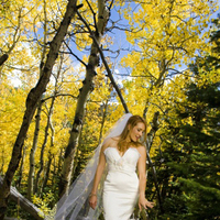 orange, red, Bride, Bouquet, Ring, Forest, Mountains, Autumn, Captured kiss photography, Alvina valenta, Estes park
