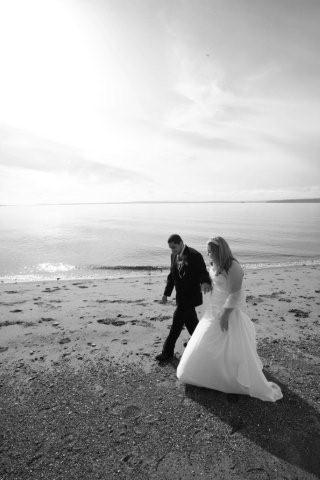 Beach, Bride, Groom, Wedding, And, Couple, Heather kotoks ceremonies