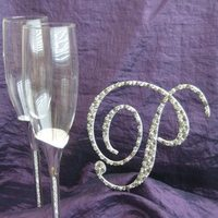 Toasting flutes, Toppers with glitz, Champagne glasses, Crystal glasses