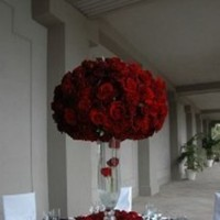 Reception, Flowers & Decor, white, red, black, Rose