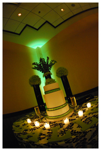 Cakes, white, green, black, cake, Damask, W, Wasabi