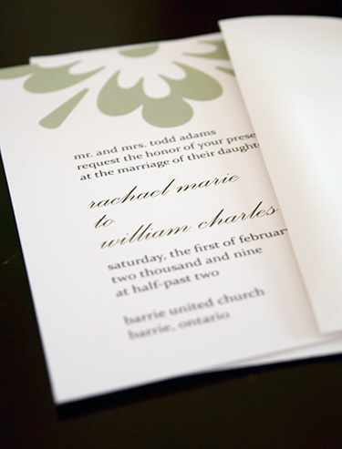 Wedding invitations, Modern girl invitations, Green wedding invitations, Flower invitations, Flower invitation