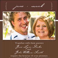 Stationery, brown, invitation, Fall, Classic, Classic Wedding Invitations, Invitations, Photo, Inexpensive, Invites by carolynn, Classy