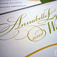 Stationery, yellow, green, invitation, Invitations, Formal, Fuzzynk design studio, Script, Font