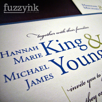 Stationery, blue, green, invitation, Modern, Modern Wedding Invitations, Invitations, Fuzzynk design studio, Script, Font