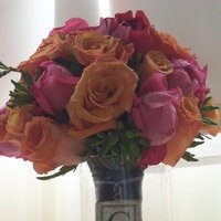 Flowers & Decor, orange, pink, Bride Bouquets, Bridesmaid Bouquets, Flowers, Bouquet, Bridesmaid, Charm