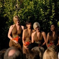 Ceremony, Flowers & Decor, Bridesmaids, Bridesmaids Dresses, Fashion, orange, pink, brown