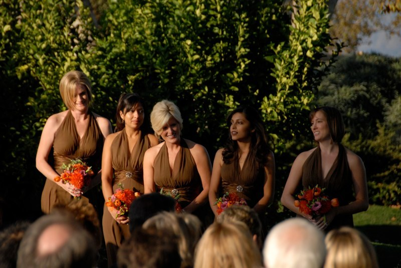 Ceremony, Flowers & Decor, Bridesmaids, Bridesmaids Dresses, Fashion, orange, pink, brown