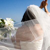 Veils, Beach Wedding Dresses, Fashion, Beach, Bride, Groom, Portrait, Veil, Wedding, And, Weddings, California, Kristengrinnellphotography