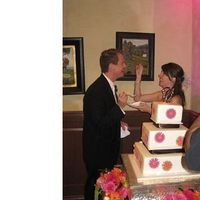 Cakes, orange, pink, brown, cake, Square Wedding Cakes, Square