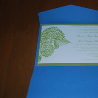 DIY, Stationery, blue, green, Invitations