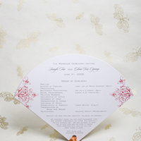 Stationery, Ceremony Programs, Program, Fan, Eiffel printing and design