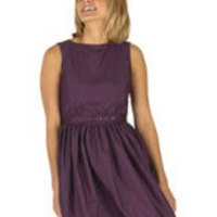 Bridesmaids, Bridesmaids Dresses, Fashion, purple, Plum, Tea-length