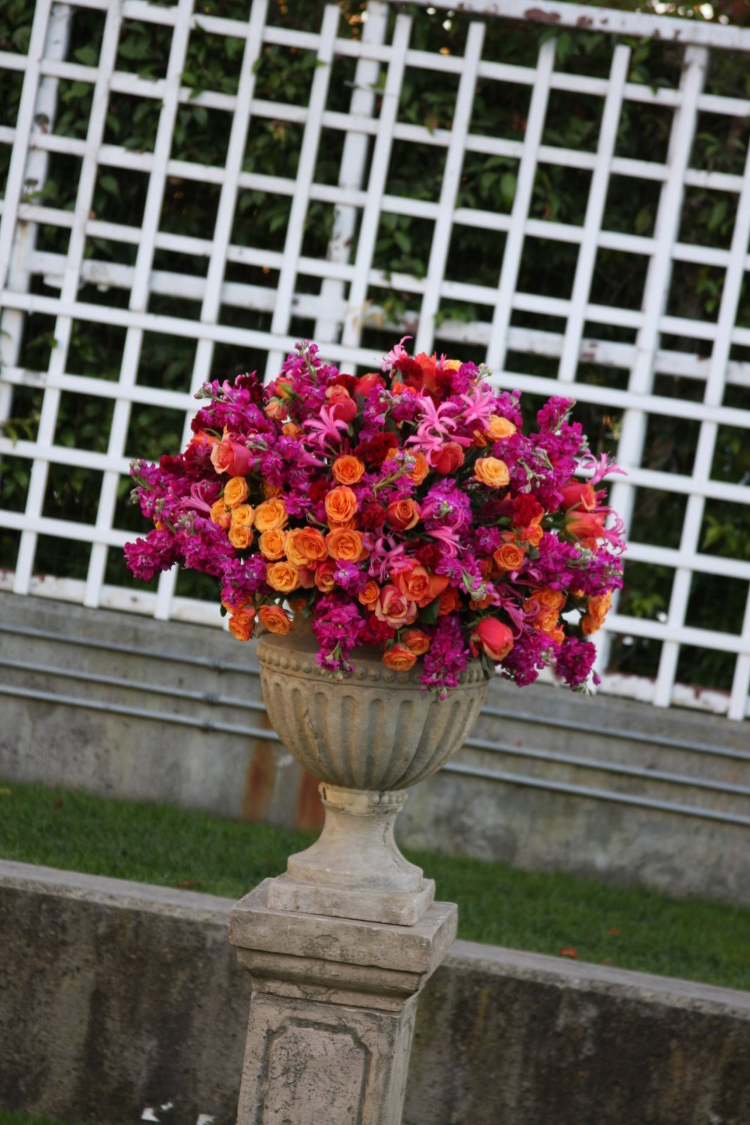Ceremony, Flowers & Decor, orange, pink, Ceremony Flowers, Flowers