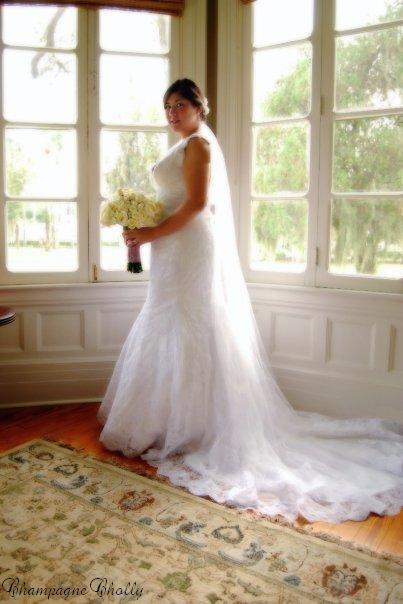 Bridal portrait, Champagne wedding