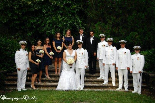 Bridal party, Champagne wedding