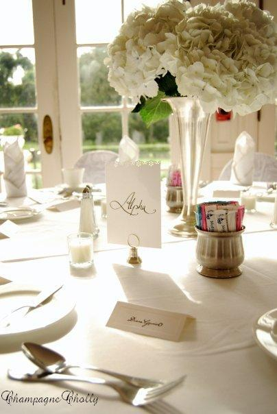 Reception Decor, Champagne wedding