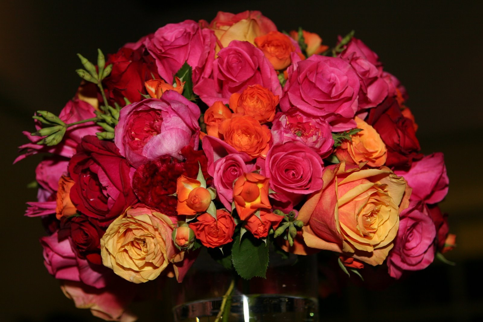 Reception, Flowers & Decor, orange, pink, Flowers