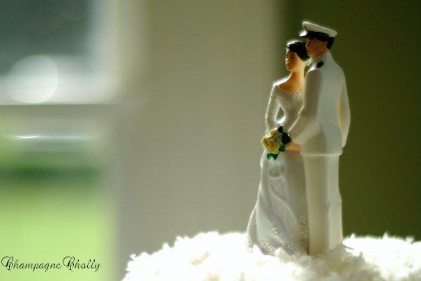 Cake topper, Champagne wedding