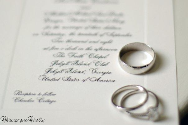 Stationery, Invitations, Rings, Champagne wedding