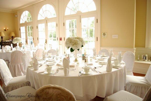 Reception Decor, Champagne wedding