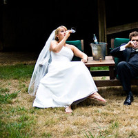 ivory, Bride, Groom, And, Champagne, Joel flory photography