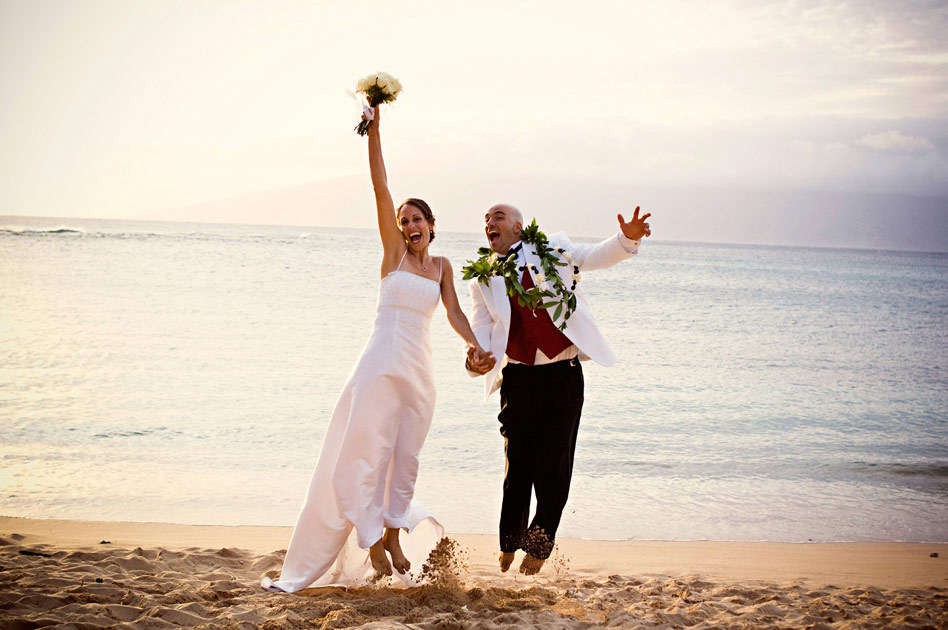 Destinations, Hawaii, Bride, Groom, Wedding, And, Maui, Joel flory photography
