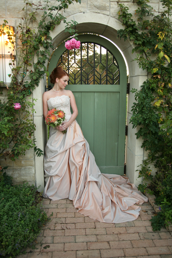 Flowers & Decor, Wedding Dresses, Fashion, pink, green, dress, Bride Bouquets, Garden, Bride, Flowers, Garden Wedding Flowers & Decor, Door, Flower Wedding Dresses