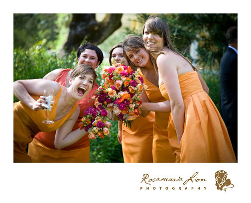Bridesmaids, Bridesmaids Dresses, Fashion, orange, Group, Photo, Dresses, Rosemarie lion photography