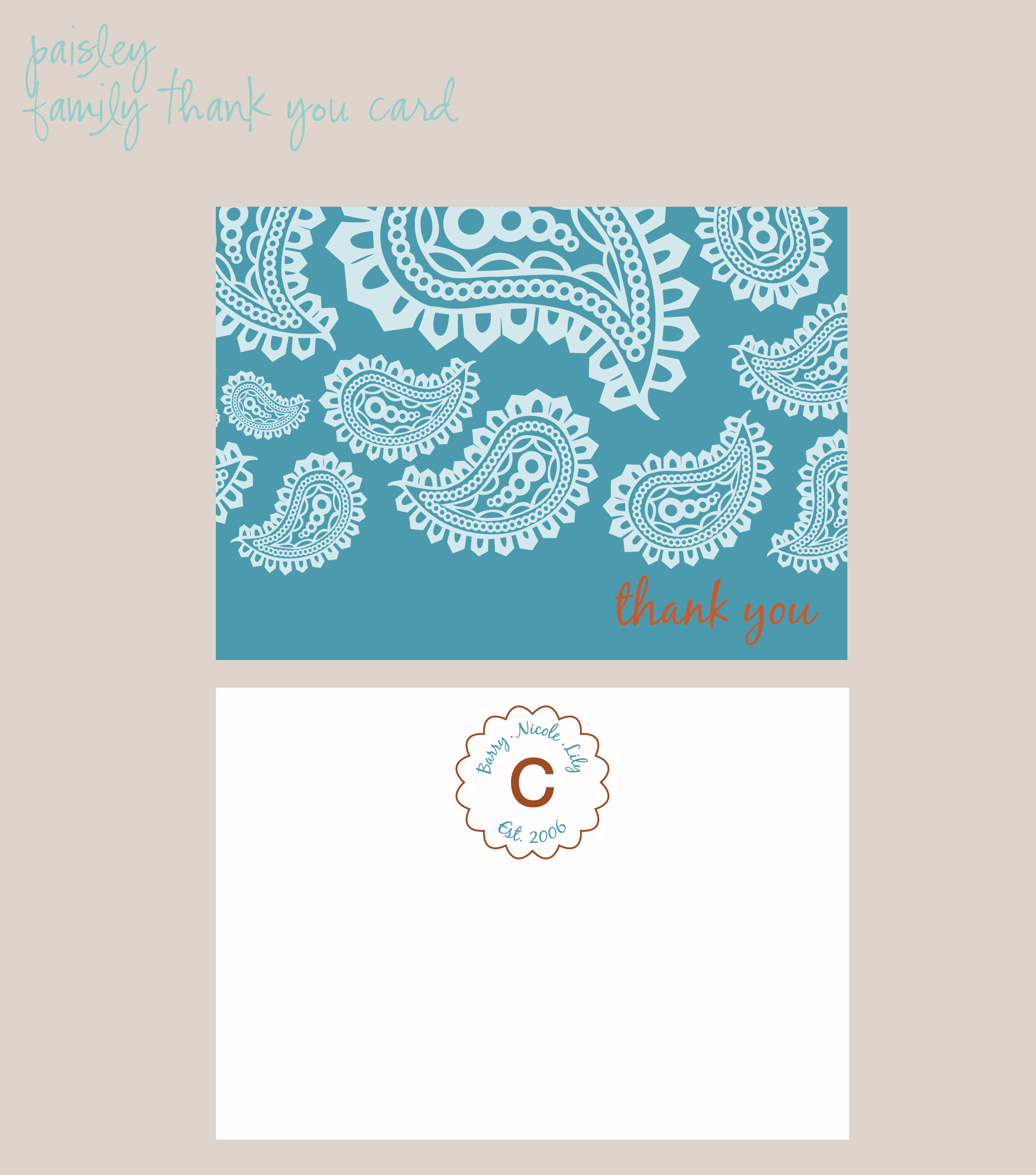 Stationery, Thank You Notes, Exquisite affairs productions inc, Thank you card