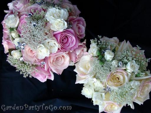 Flowers & Decor, pink, Bride Bouquets, Flowers, Bouquet, Lace, Swarovski, Crystals, Antique, Gardenpartytogocom, Glitter