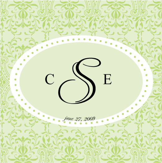 green, Square, Monogram, Simply so stylish